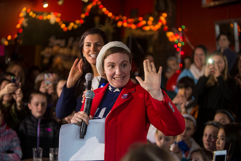 Lena Dunham just launched this video of a flash mob in pantsuits for the most awesome reason