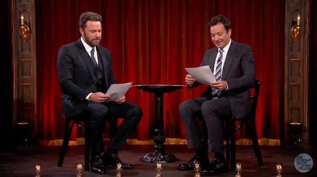Ben Affleck and Jimmy Fallon acted out a play written by kids, and freaking LOL