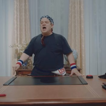 You have to watch Patton Oswalt rock out in this Weezer video