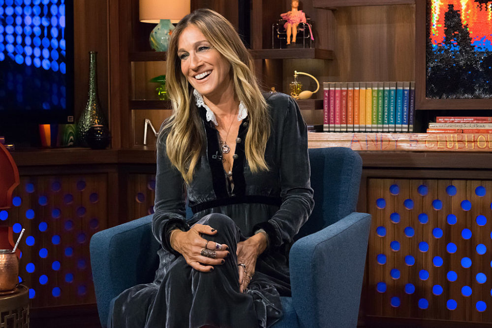 This is the first dress from Sarah Jessica Parker's LBD collection and we want it in our closets ASAP