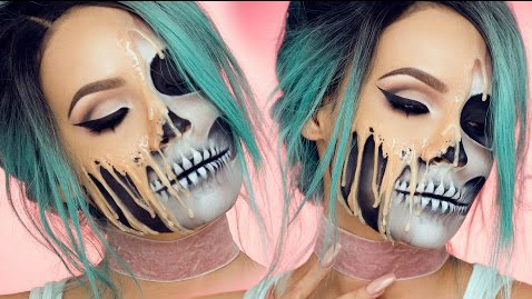 How to do skull makeup for Halloween: it's classic, terrifying, and a little bit cute