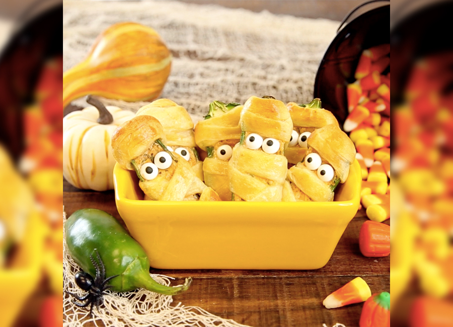 Every Halloween party needs these hot-n-spicy mummy poppers