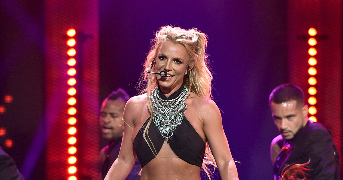 Britney Spears got a wavy new haircut and she shared it in the goofiest way