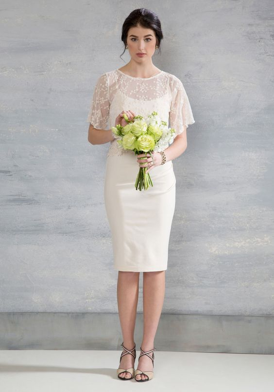 12 Short Wedding Dresses That Are Endlessly Beautiful