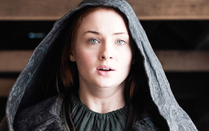 "The first images of Sophie Turner (in a red wig) from the ""Game of Thrones"" Season 7 set are here"