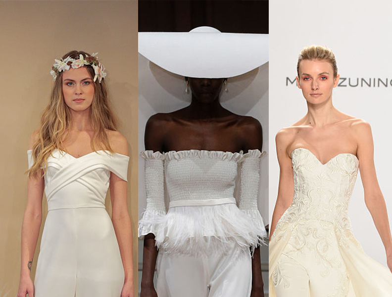 We are obsessed with the totally modern bridal jumpsuit trend