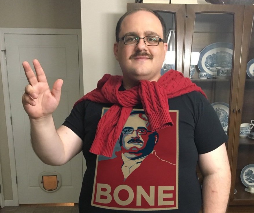 Debate-favorite Ken Bone posts a picture of him in his olive suit, and he looks like a new man