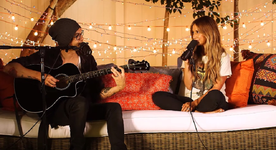 "Ashley Tisdale and her husband covered ""Still Into You"" by Paramore and it's the cutest thing ever"