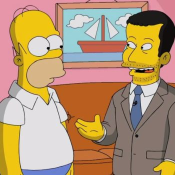 """Homer Simpson appeared on """"Jimmy Kimmel Live"""" last night, and it was absolutely incredible"""