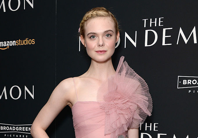 Elle Fanning wore a dress that Elle Woods would TOTALLY approve of
