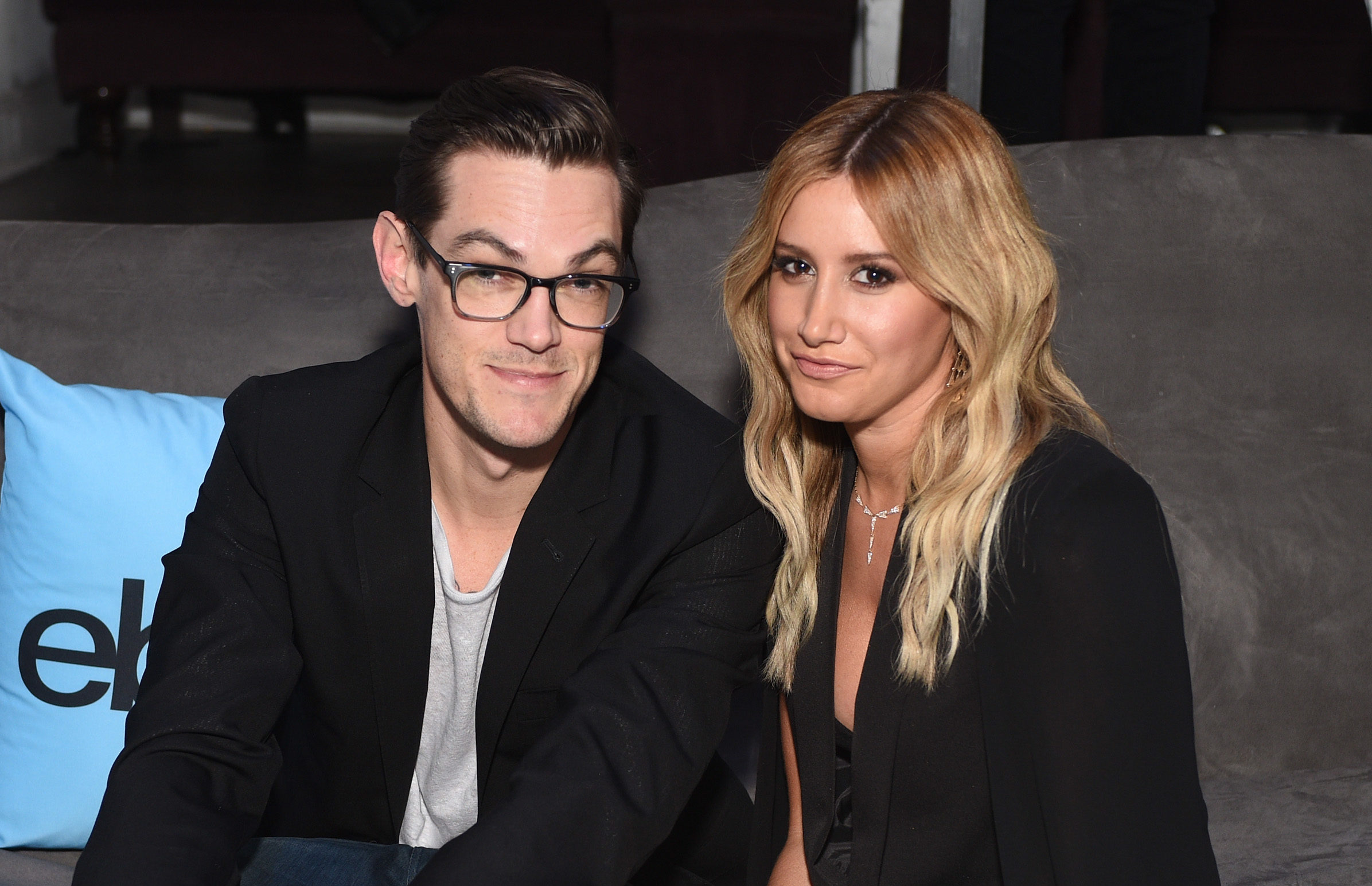 """Ashley Tisdale and husband recreate """"Blair Witch Project"""" with the deer filter, we're DYING"""