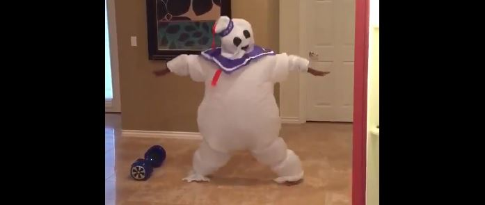 Watch this video of a kid gleefully dancing after he tries on his Halloween costume for the first time, immediately feel uplifted
