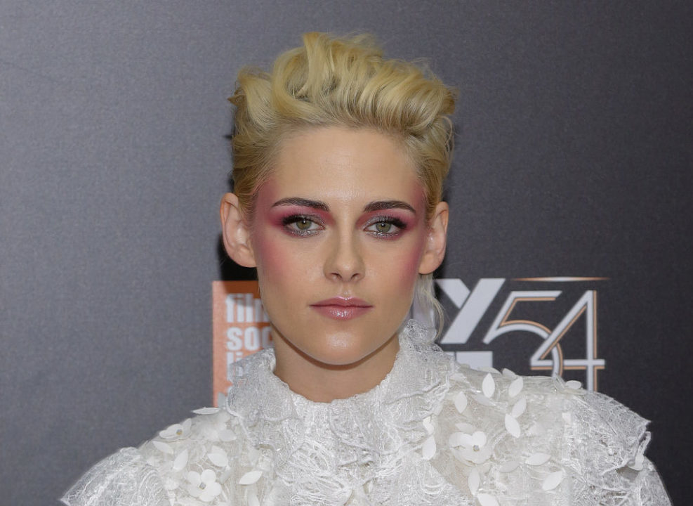 Is it just us or is Kristen Stewart totally channeling David Bowie in this outrageous outfit?