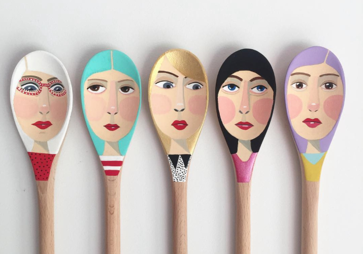 This artist creates spoons with faces, and they're SO CUTE