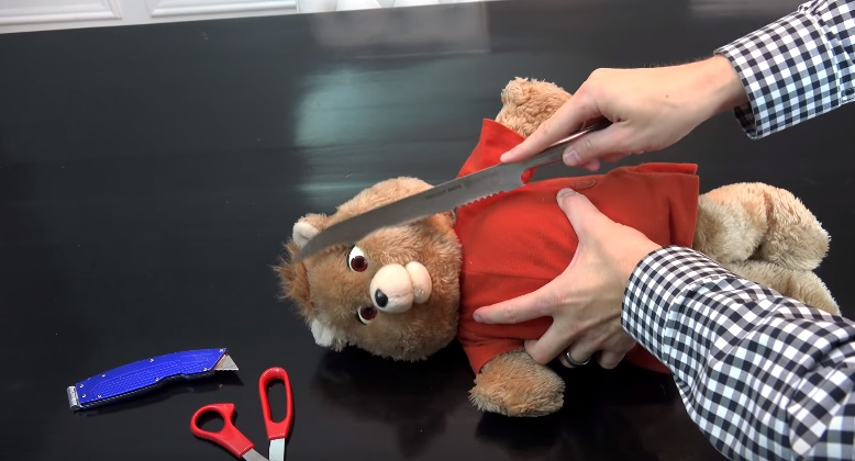 Ahh! Someone cut a Teddy Ruxpin into pieces to see how it worked and now we're sad