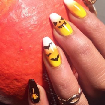 These candy corn-inspired nails will rock your Halloween world, even if you don't like candy corn!