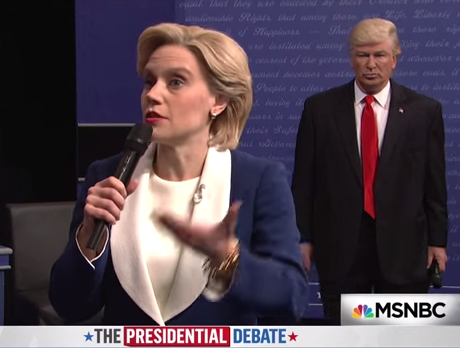 'SNL' parodied the second presidential debate and it will briefly make you enjoy this nightmarish election