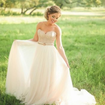 We are madly in love with these brand new blush wedding gowns, made only for true romantics