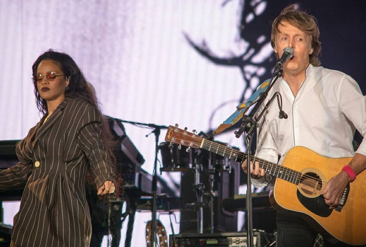 Paul McCartney and Rihanna jammed together live at Desert Trip