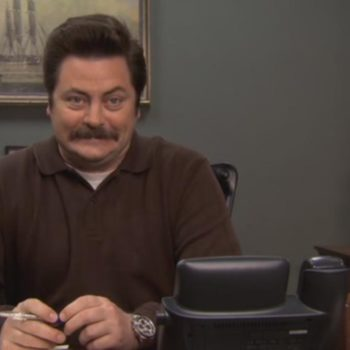 "We now know how Ron Swanson from ""Parks and Rec"" feels about this election, and it's surprising!"