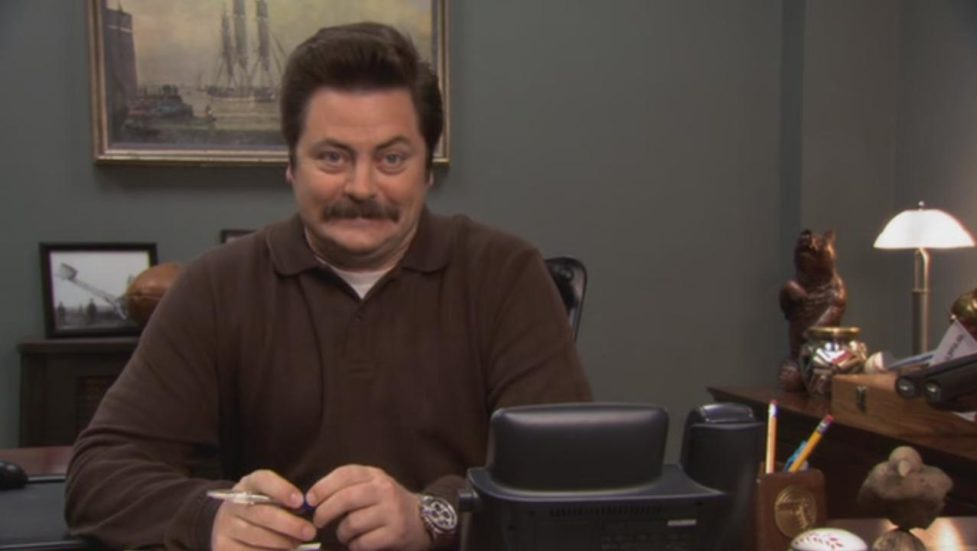 """We now know how Ron Swanson from """"Parks and Rec"""" feels about this election, and it's surprising!"""
