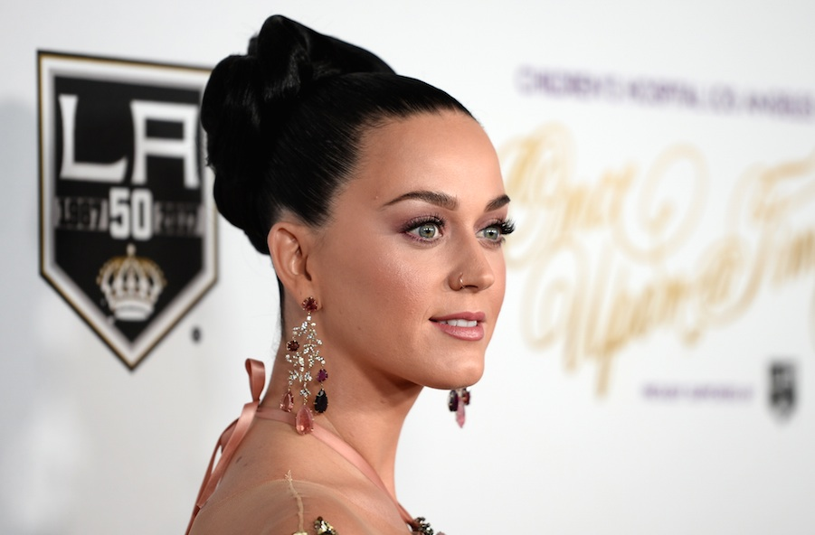 Katy Perry looked like a garden mermaid in this sparkly floral dress, and we're obsessed