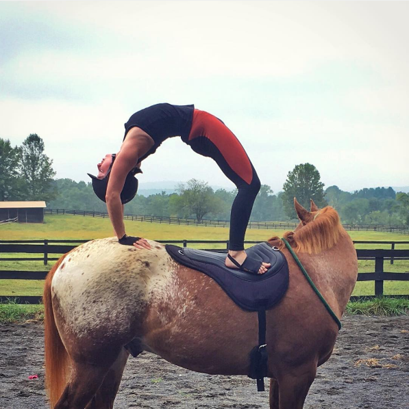 People are doing yoga on horses now, because hey, why not?