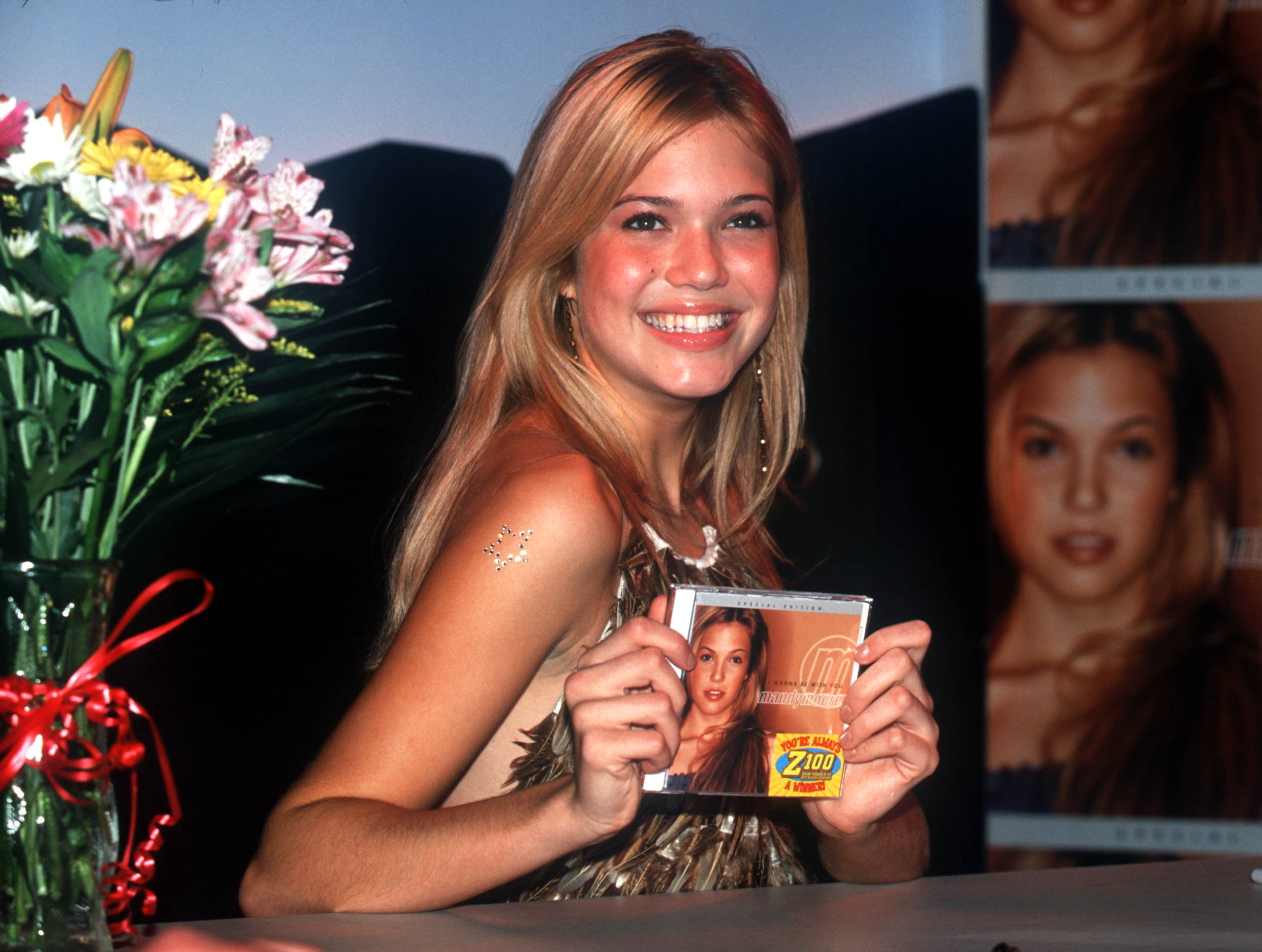 Mandy Moore launches her new CD in New York City