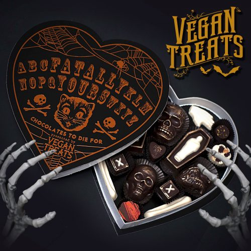 This spooky, heart-shaped candy box will warm your cold black heart