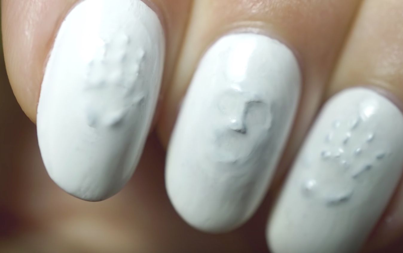 This 3D ghost manicure is nail art that will frighten even the bravest beauty gurus