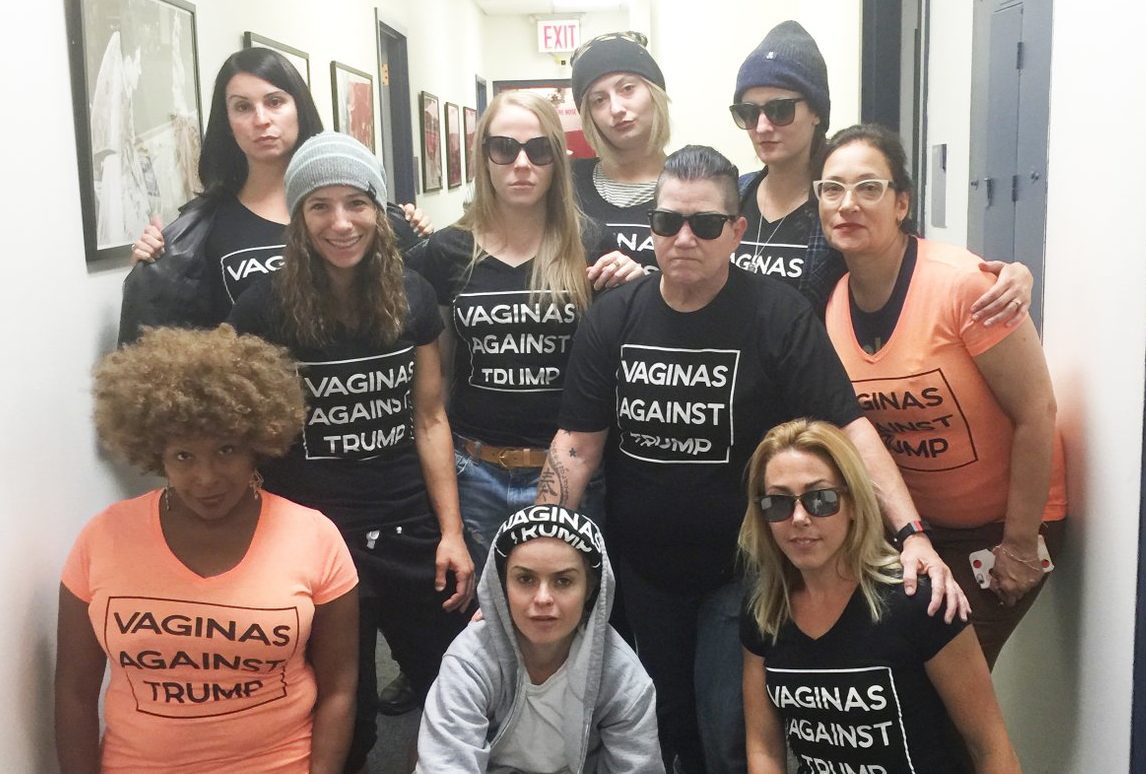 "The cast of 'Orange is the New Black' wore ""Vaginas Against Trump"" t-shirts, and we found where to get one"
