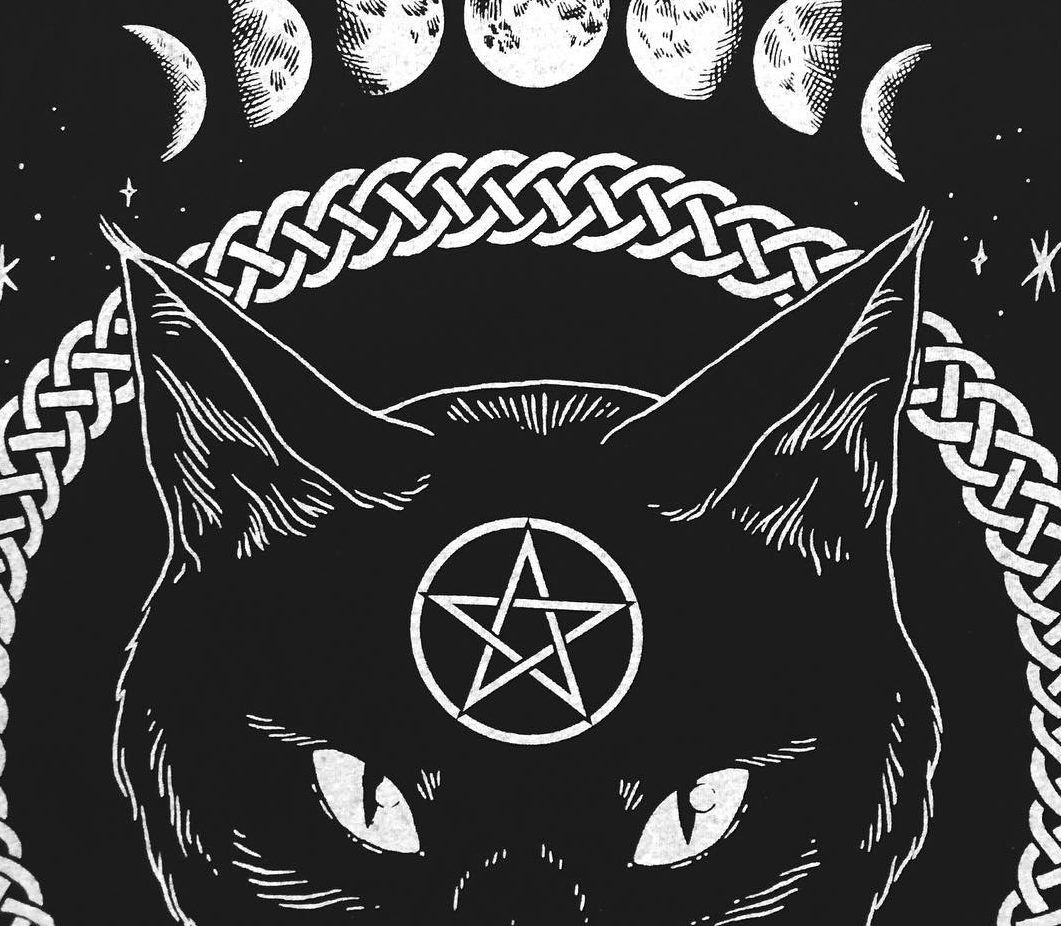 "This collection of ""Cat Coven"" clothing is purrfect for your year-round Halloween needs"