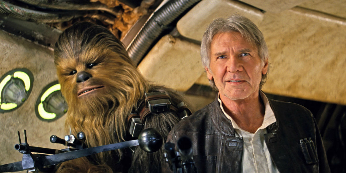 "They just released a deleted scene from ""The Force Awakens,"" and Chewbacca is a BADASS"