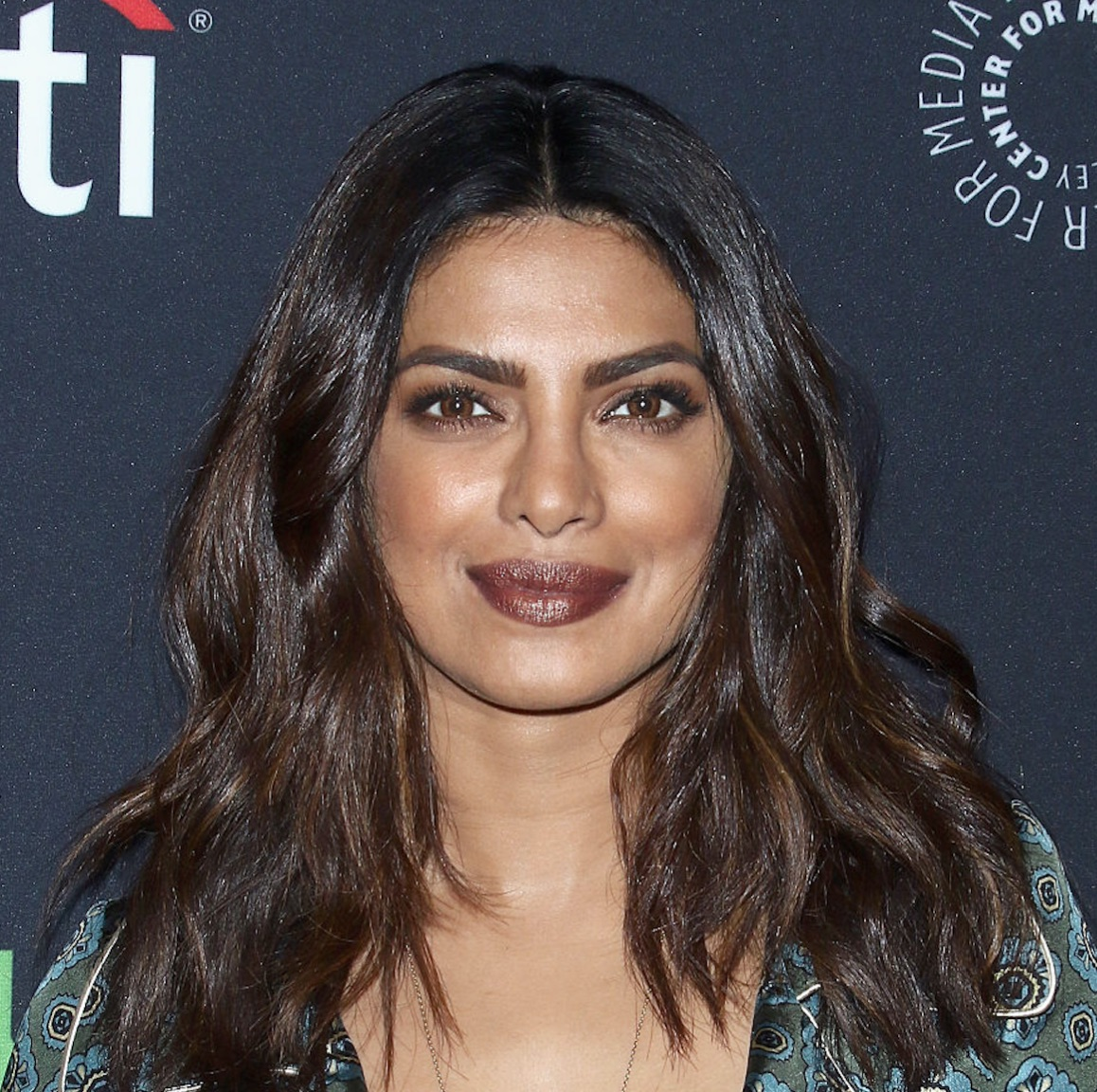 Priyanka Chopra wore an incredible emerald silk pattern dress and we can't look away