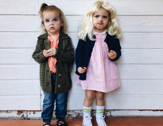 These twin babies' coordinated Halloween costumes are serious goals