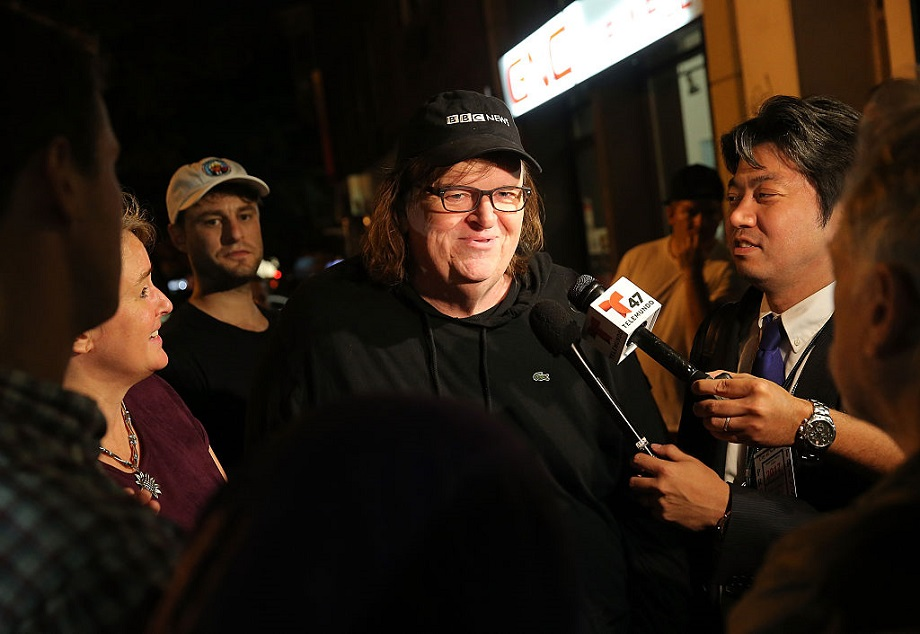 Michael Moore has a brand new movie that he's kept under wraps, and it's focused on Trump