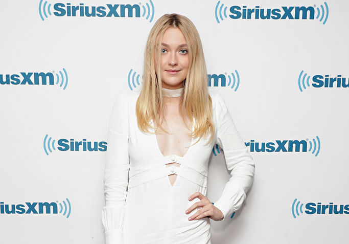 We can't stop staring at the shoes Dakota Fanning wore to spice up her little black dress