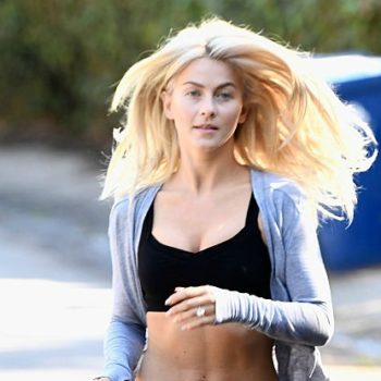 Julianne Hough looks like a flawless fitness ad running through the hills of LA