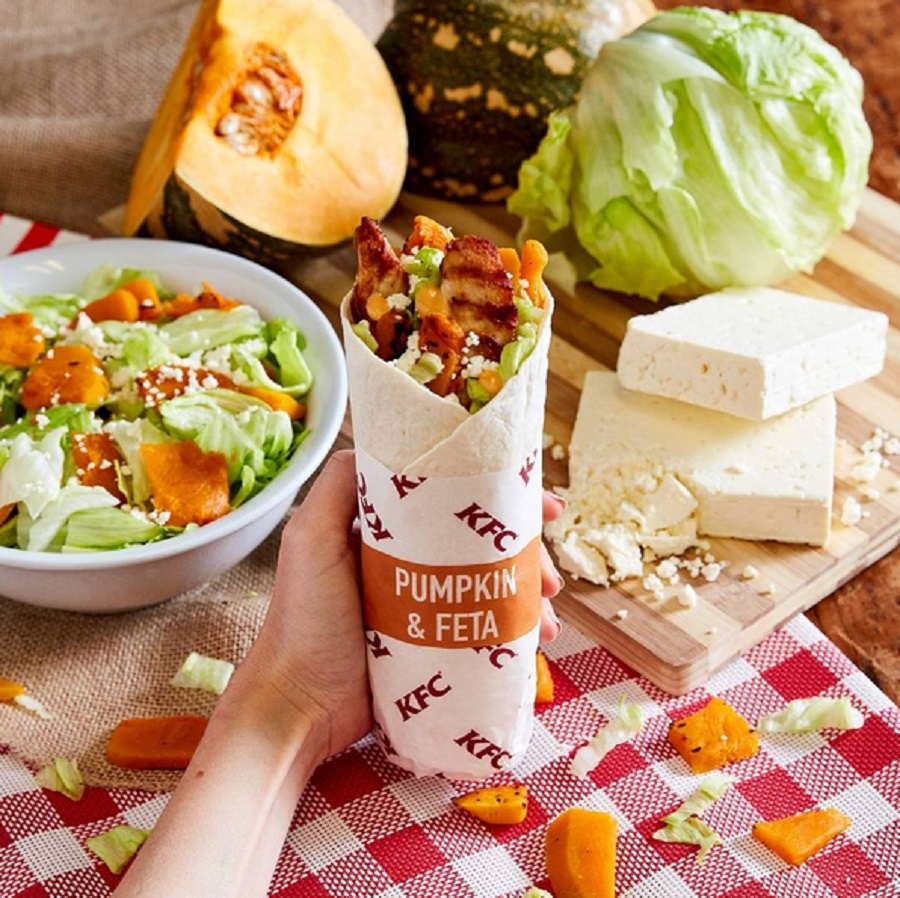 KFC is serving a pumpkin chicken wrap, and maybe we should be upset but we're into it