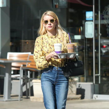 Emma Roberts looks like a coffee queen while on an errand run