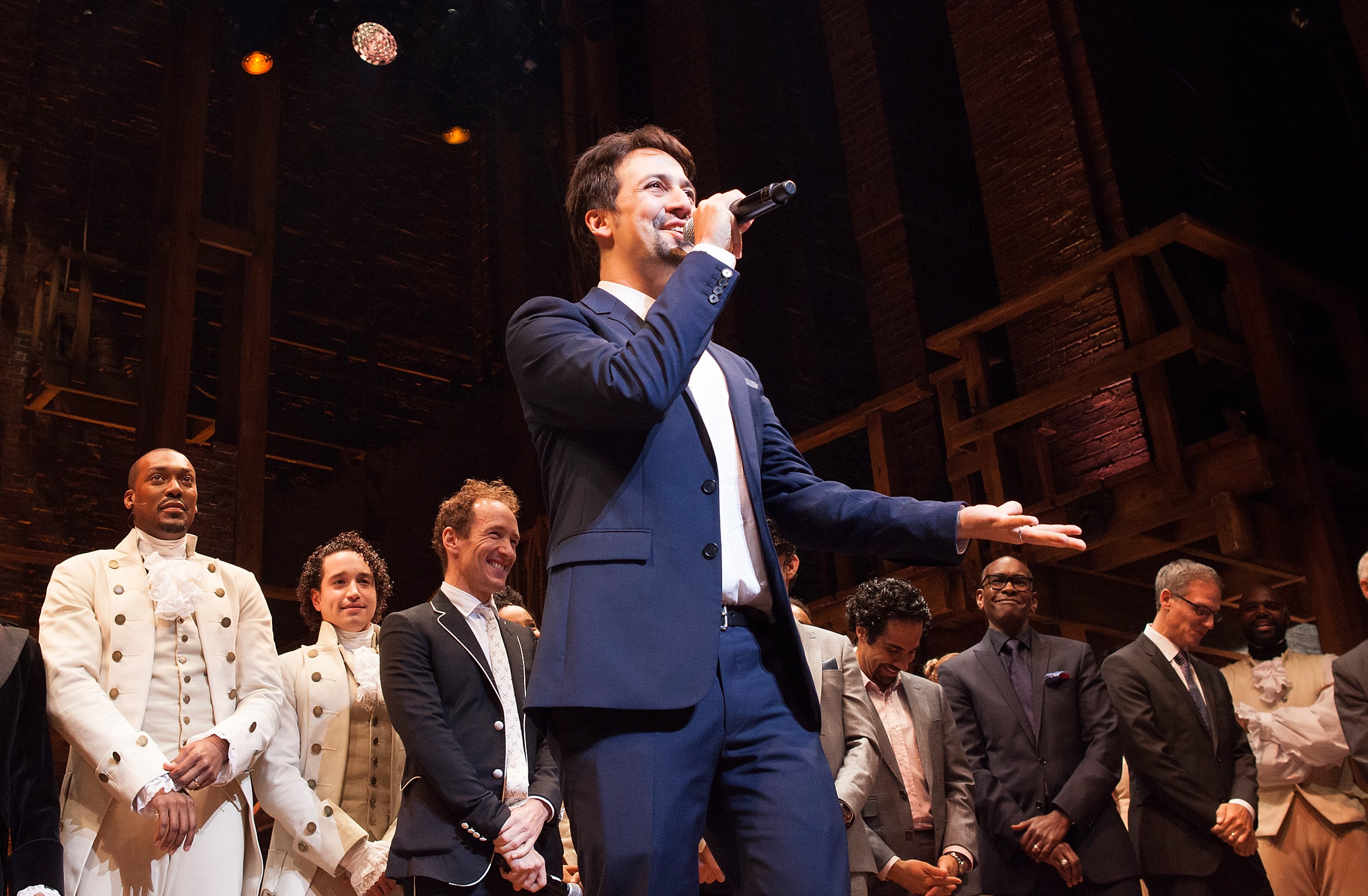 "Lin-Manuel Miranda opened the Chicago production of ""Hamilton,"" and we're totally giddy"