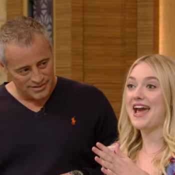 "Matt LeBlanc reunited with Dakota Fanning on ""Live! With Kelly"" and it was adorable"