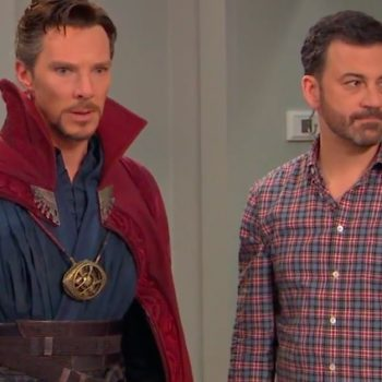 "Jimmy Kimmel ""hires"" Doctor Strange for a children's b-day party, and Happy Friday"