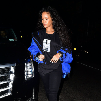 A complete lesson in making windbreakers stylish, as taught by Rihanna