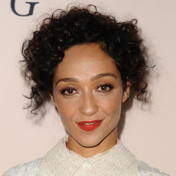 """Ruth Negga is an angelic vision in white lace at the premiere for """"Loving"""""""