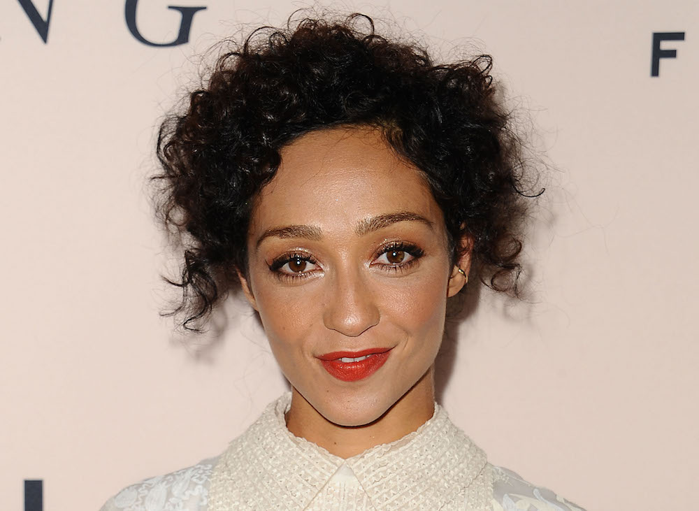 "Ruth Negga is an angelic vision in white lace at the premiere for ""Loving"""