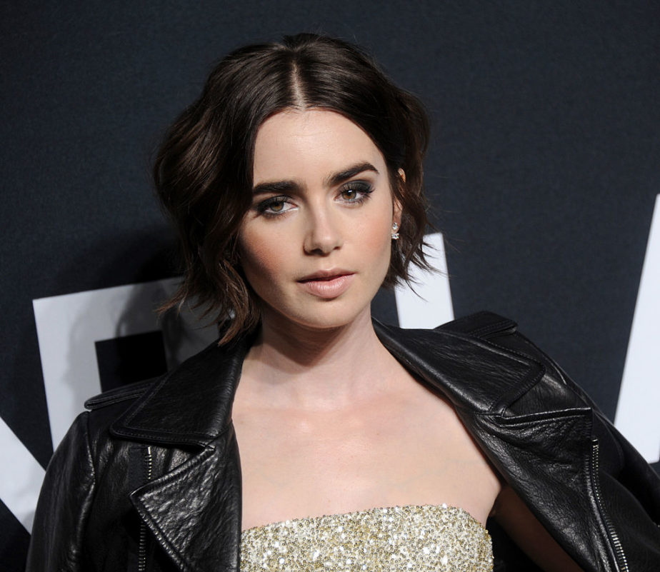 Lily Collins Glitter Eye Look Is Absolutely Perfect For A
