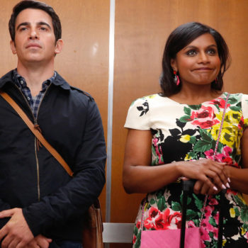 We love everything about Mindy Kaling's sparkling and colorful clutch