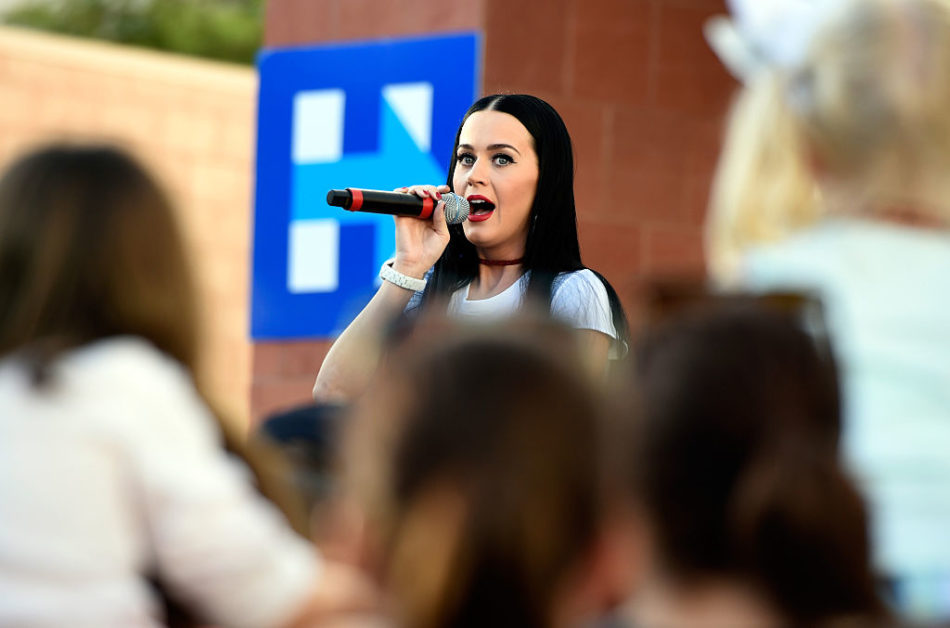 Katy Perry is campaigning for Hillary Clinton in Nevada and you've GOT to see her shirt!