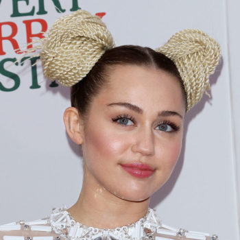 Miley Cyrus wore a giant blue bow and fuzzy hat while campaigning for Hillary Clinton and we cannot look away
